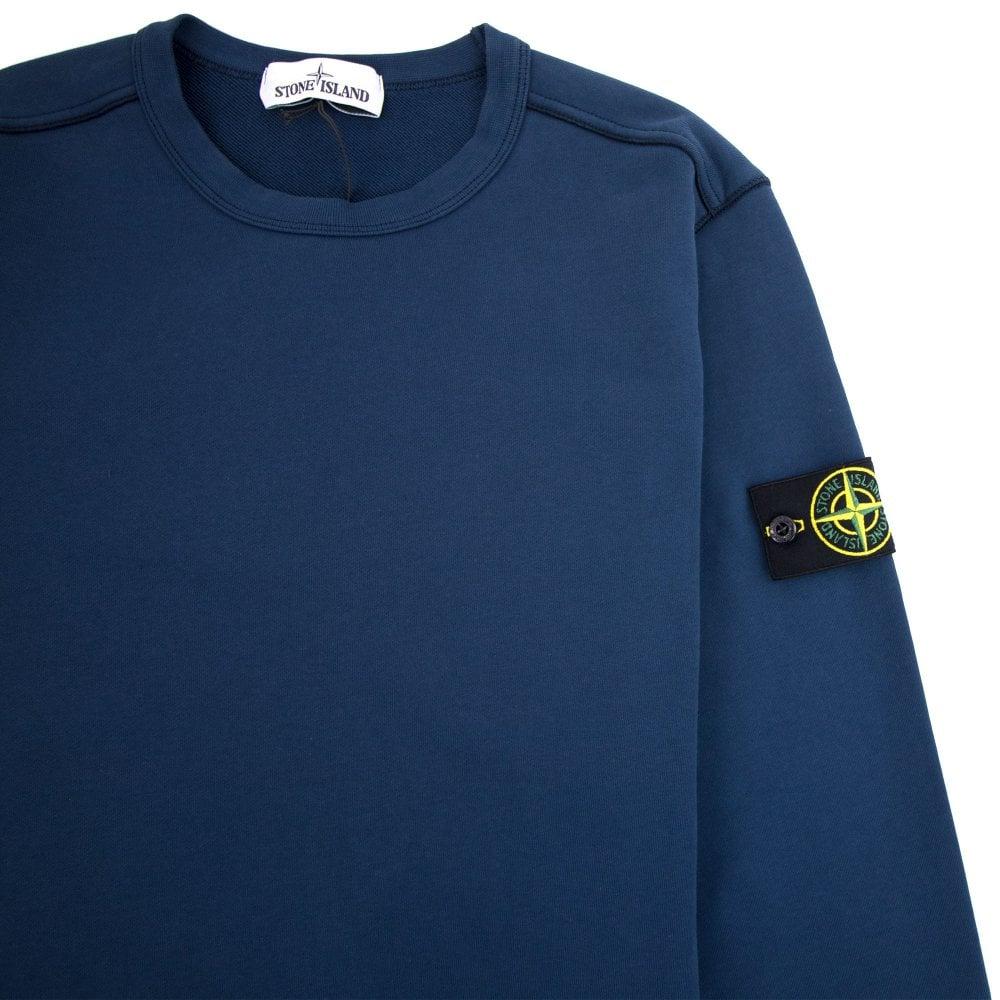 53654104 Stone Island Crewneck Sweatshirt Petrol Blue V0028 | ONU