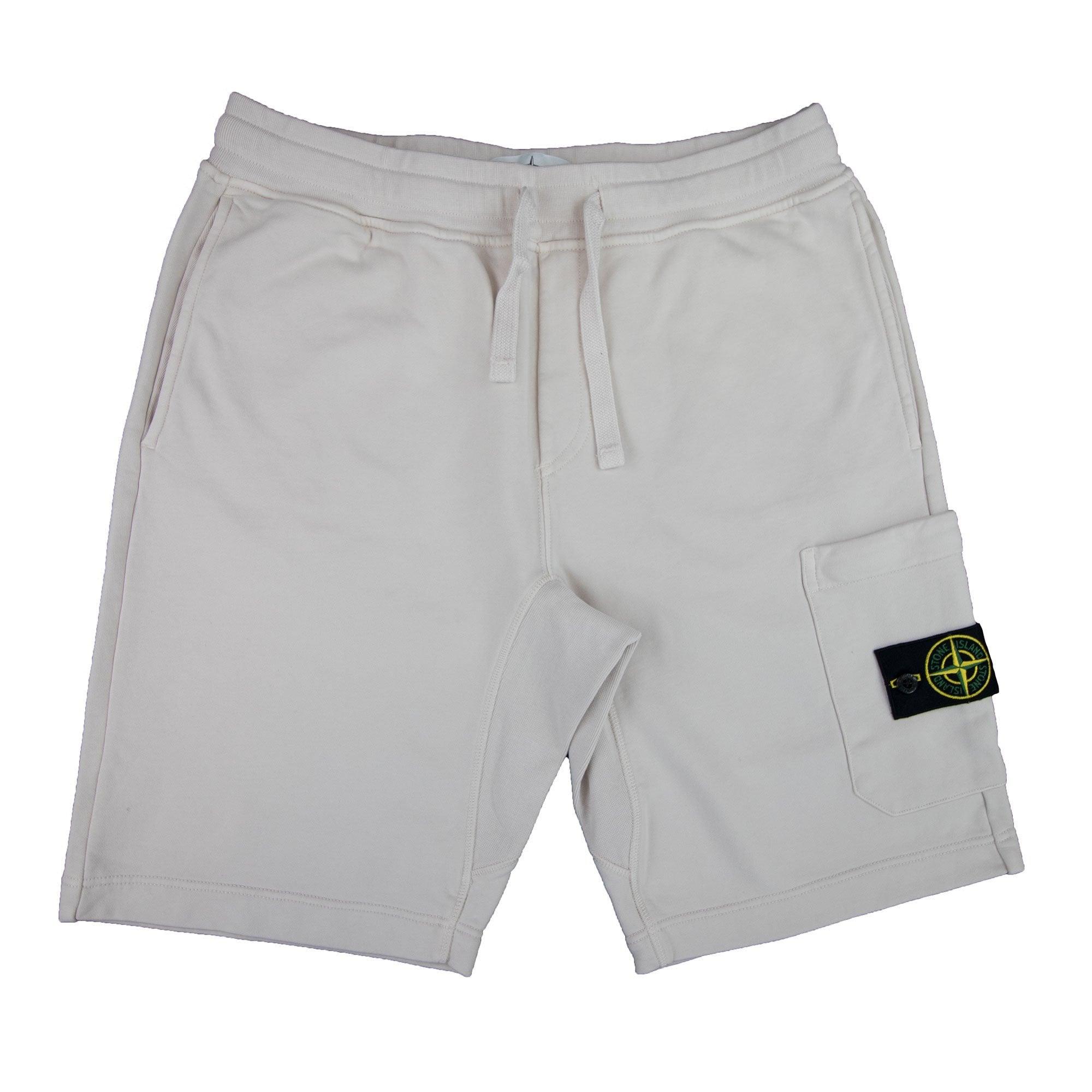 Brick Red Stone Island Fleece Shorts