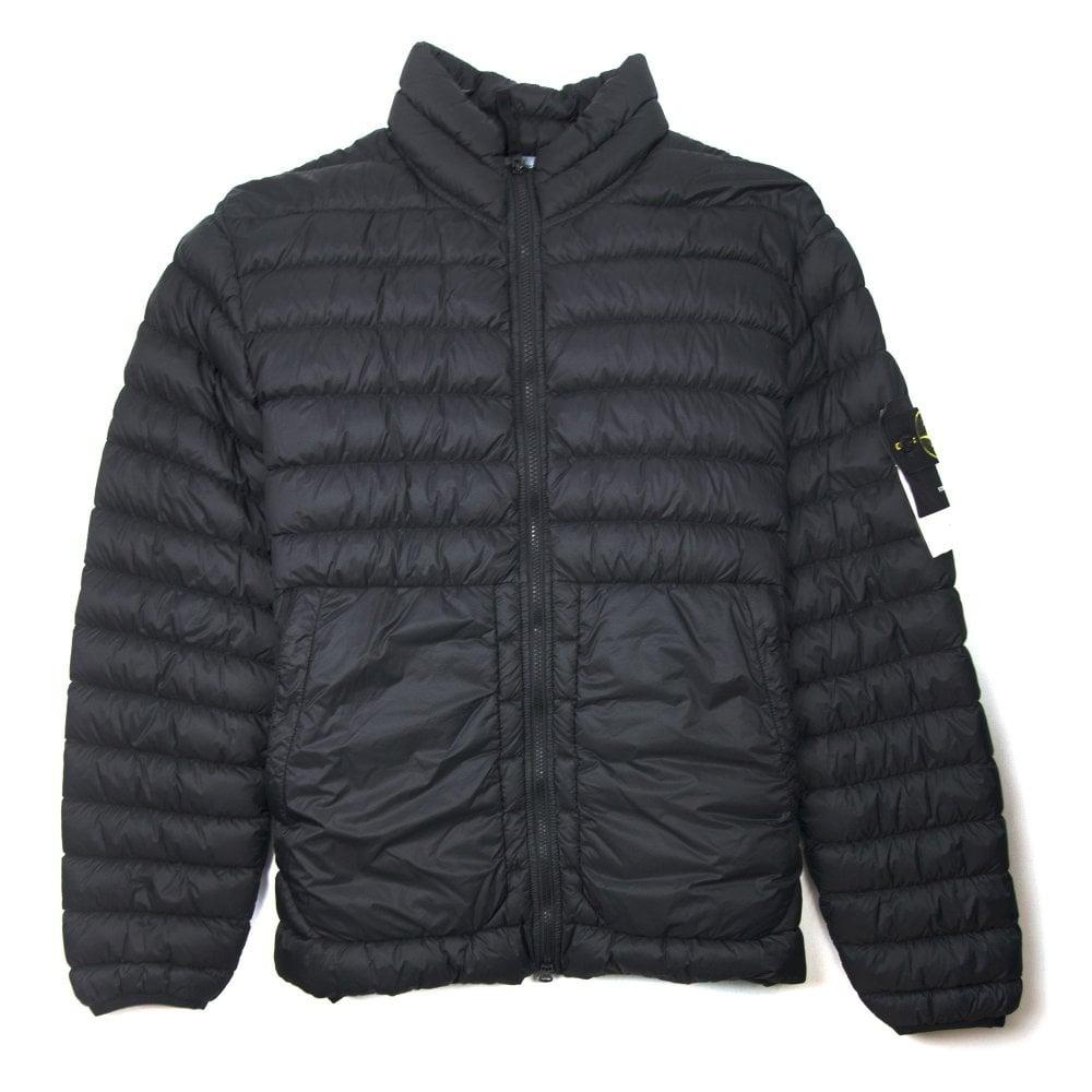 af812a1de6 Stone Island Garment Dyed Micro Yard Down Jacket Black - Men from Onu UK