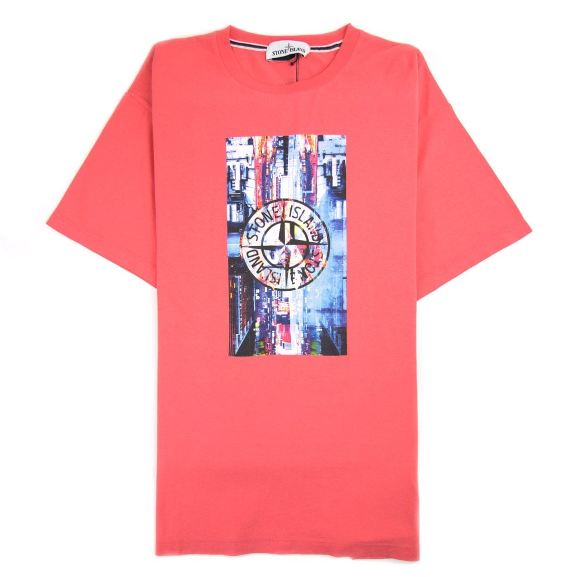 Stone Island Graphic Logo T Shirt Pink Onu
