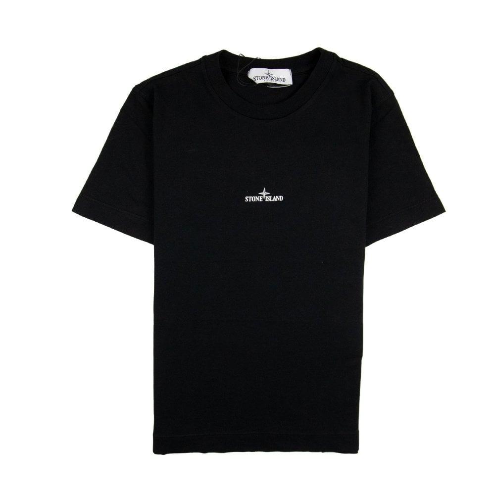 f2584b888b32 Stone Island Junior Back Compass Logo T-Shirt Black   ONU