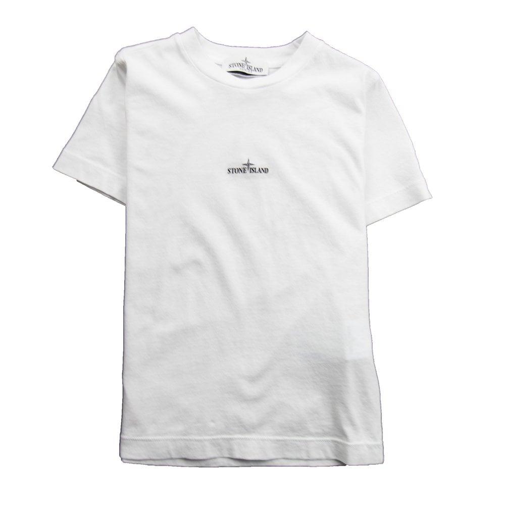 be7919d7dfdc Stone Island Junior Back Compass Logo T-Shirt White   ONU