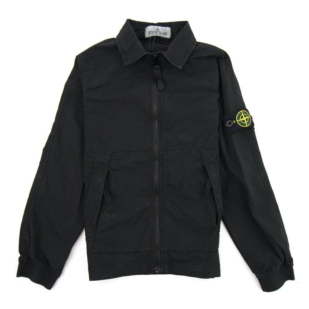 97d13278c Brushed Canvas Overshirt Black V0029