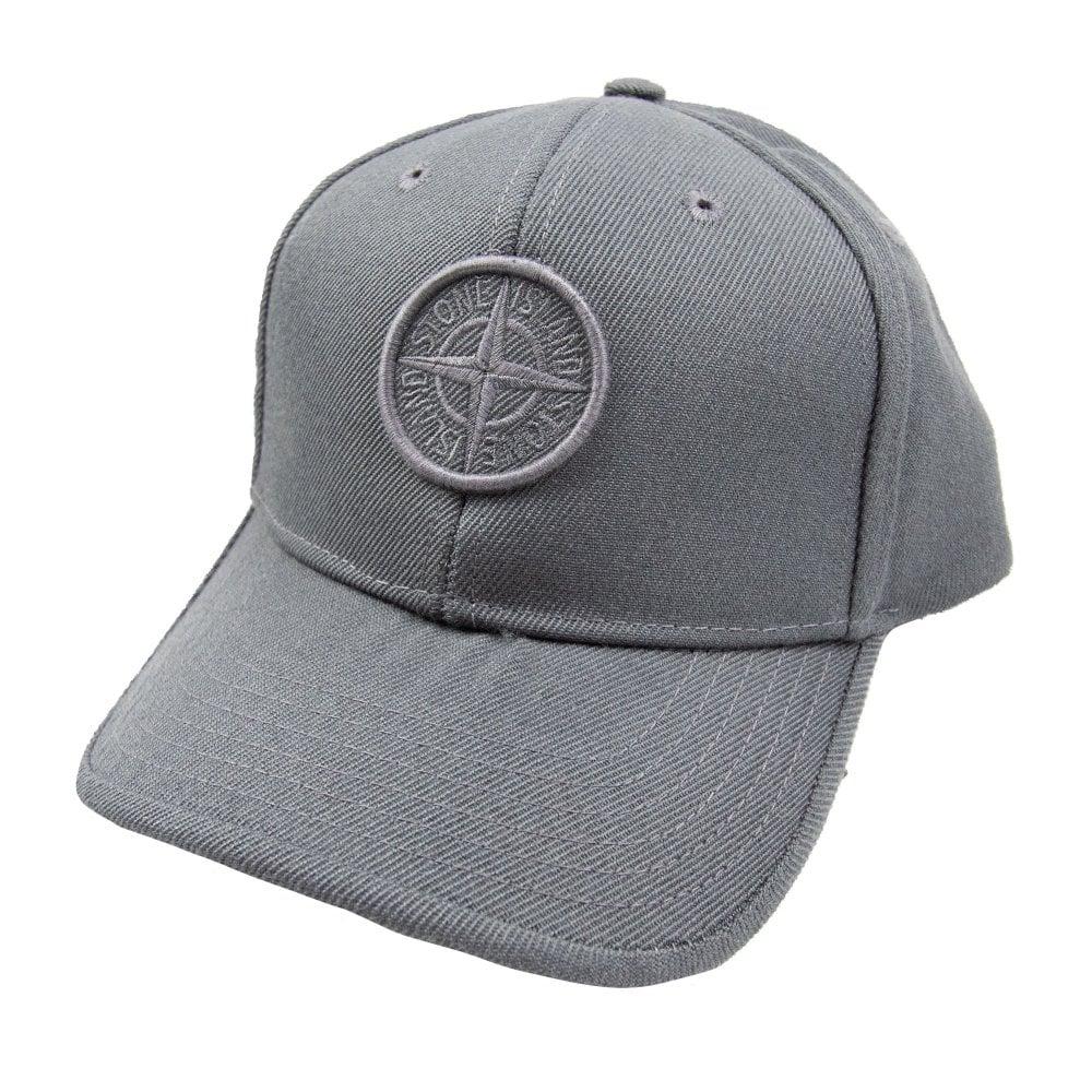 Stone Island Junior Compass Cap Grey  dfbdcf62cbf2