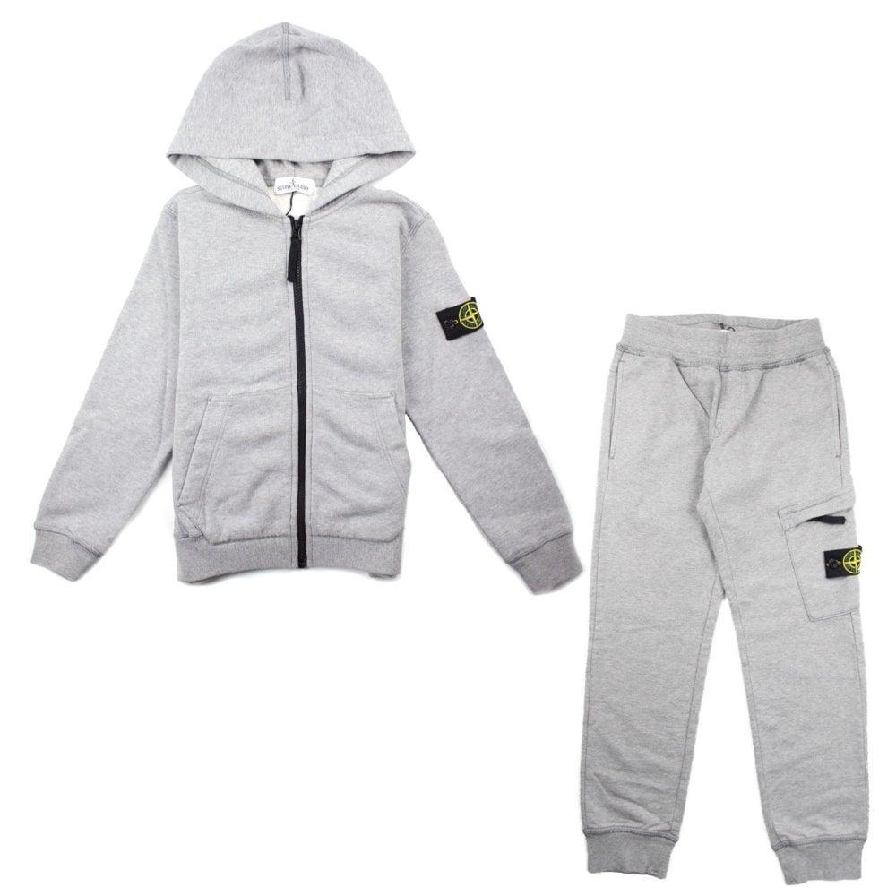 Island Hoody Tracksuit Stone Junior Grey Sweatshirt 8nOwqS17