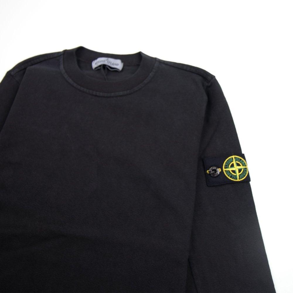 2c56c75551716 Stone Island Junior Lightweight Crewneck Sweatshirt Black - Junior ...