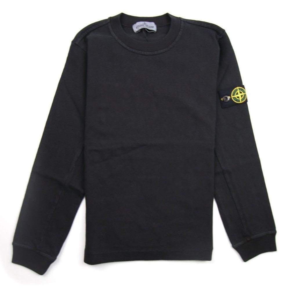 Stone Island Junior Lightweight Crewneck Sweatshirt Black V0129
