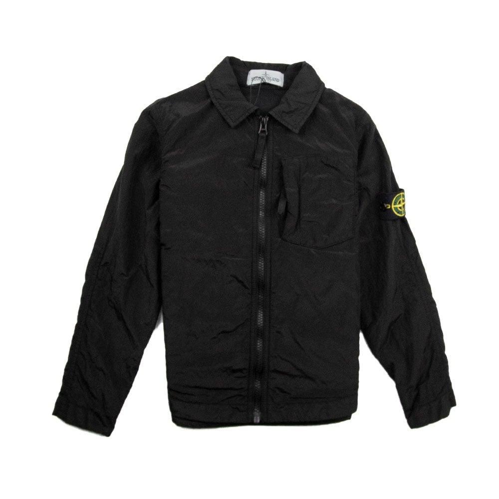 1d7b1d60 Stone Island Junior Nylon Metal Shirt Black   ONU