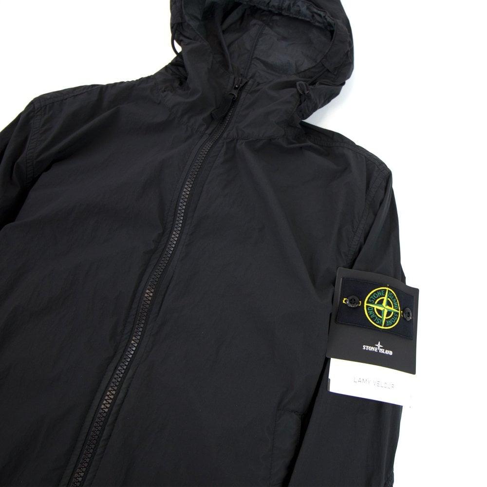 new product 6e21c 4ce26 Lamy Velour Nylon Jacket Black V0029