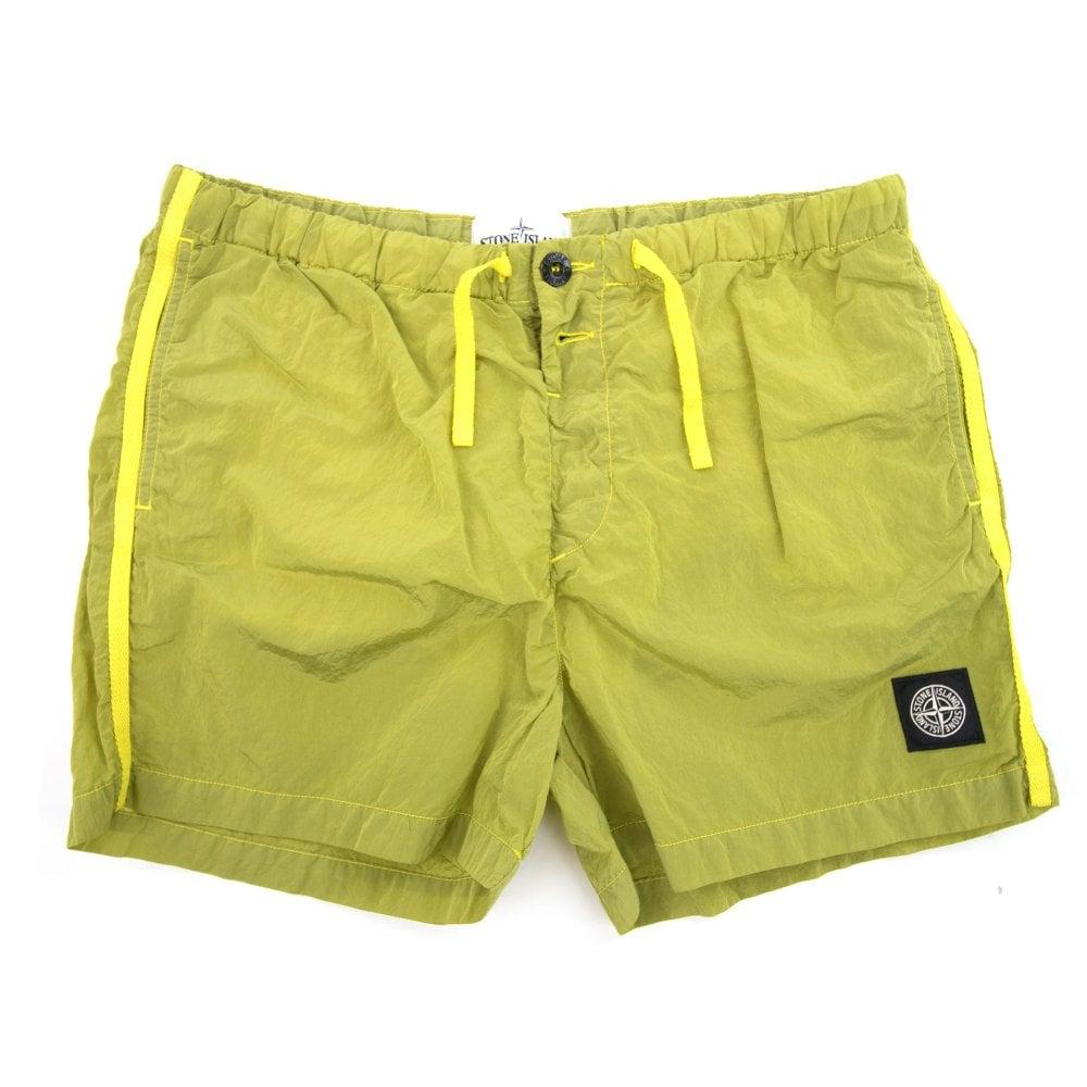 521cc84f5b Stone Island Nylon Metal Swim Shorts Yellow V0038 | ONU