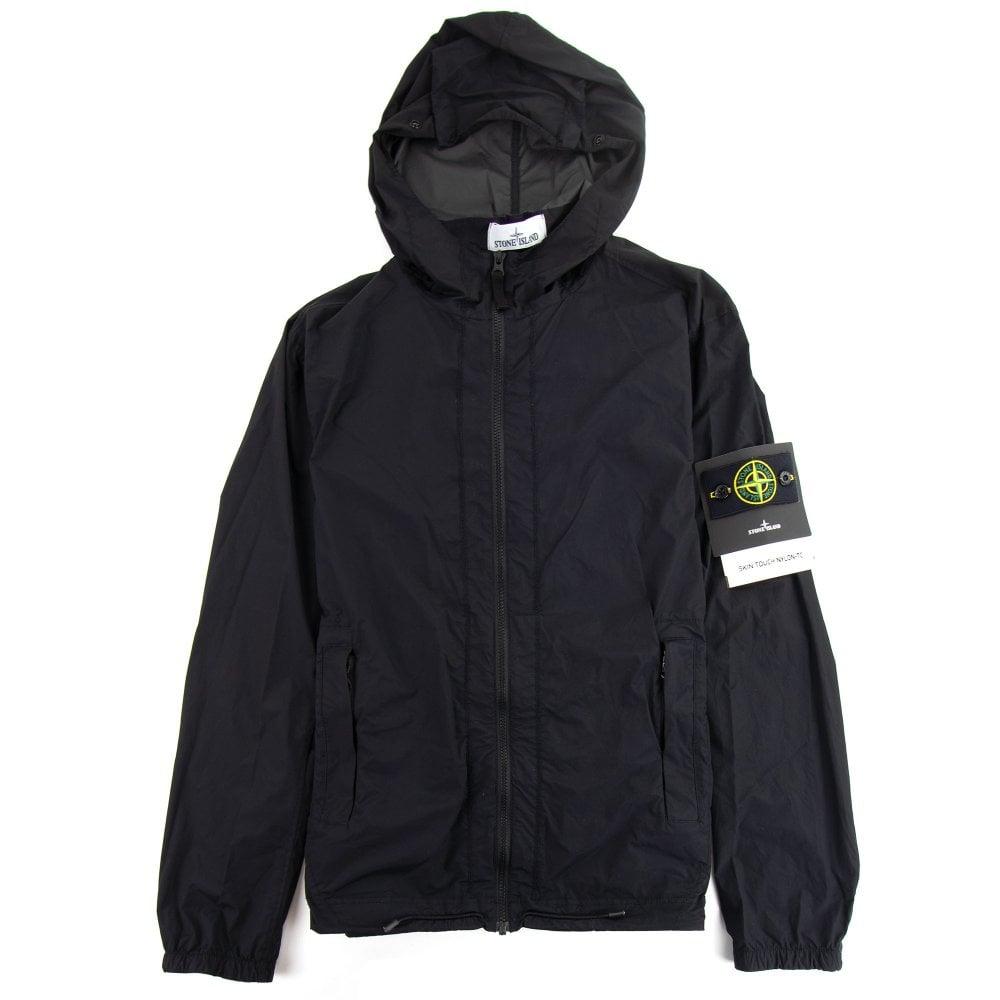 Stone Island Skin Touch Nylon Tc Packable Jacket Black Onu