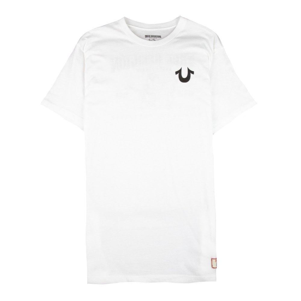 210266bf63dd5 True Religion Traditional Logo T-Shirt White   ONU