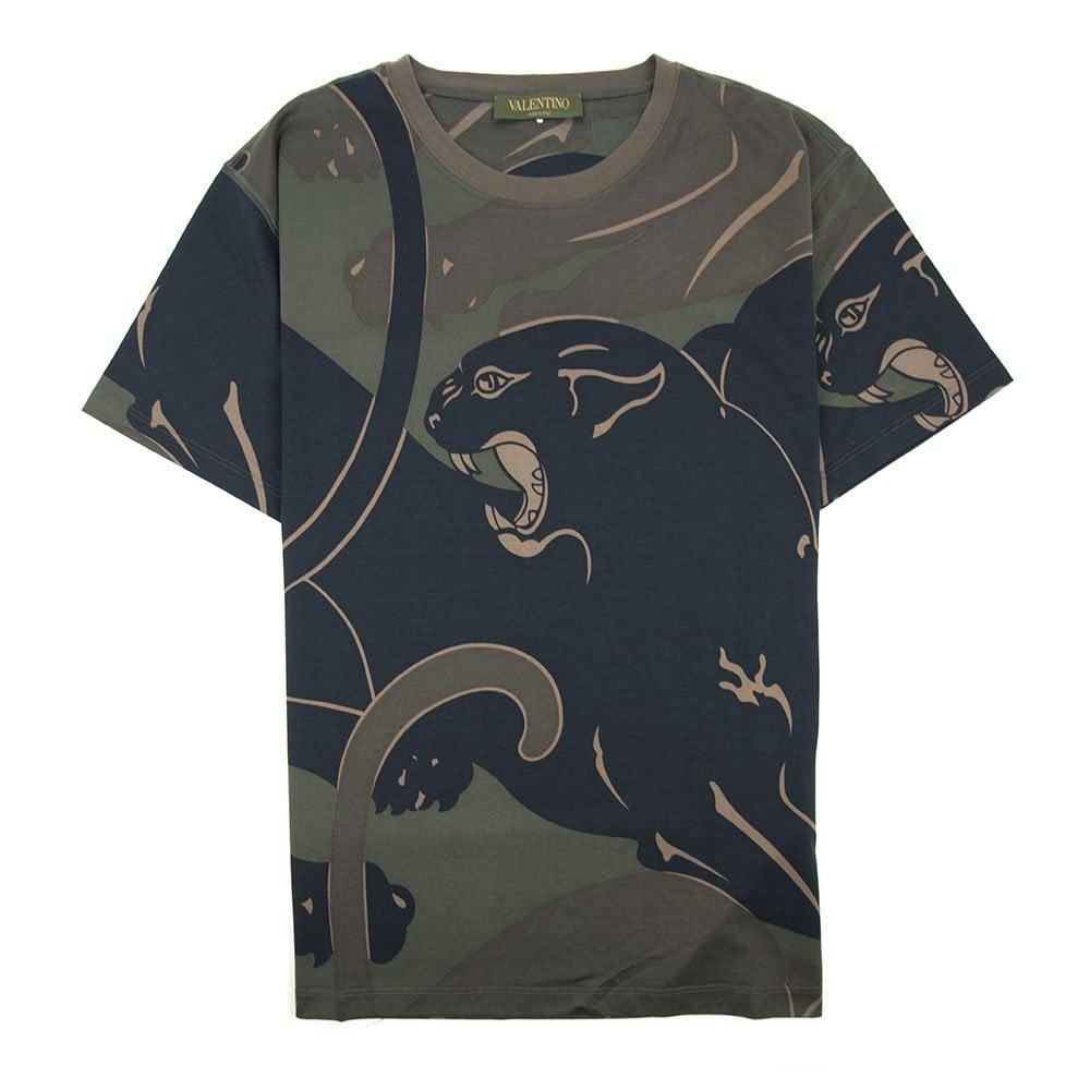 e7dfae16 Valentino Camo Panther T-Shirt Army | ONU