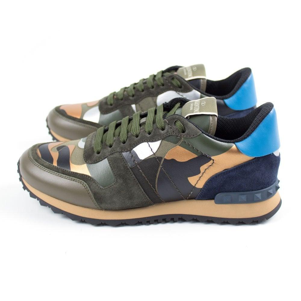 19b086728de3 Valentino Metallic Bronze Camouflage Rockrunner Trainers