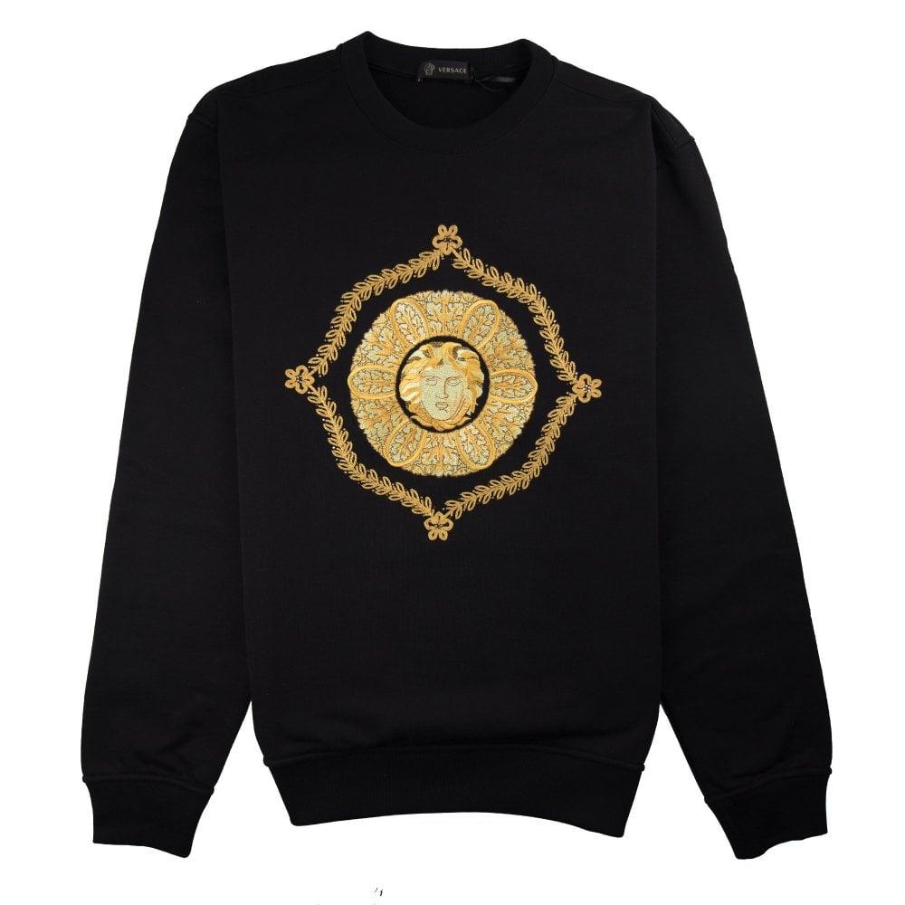 fc78642192 Gold Hibiscus Medusa Sweatshirt Black