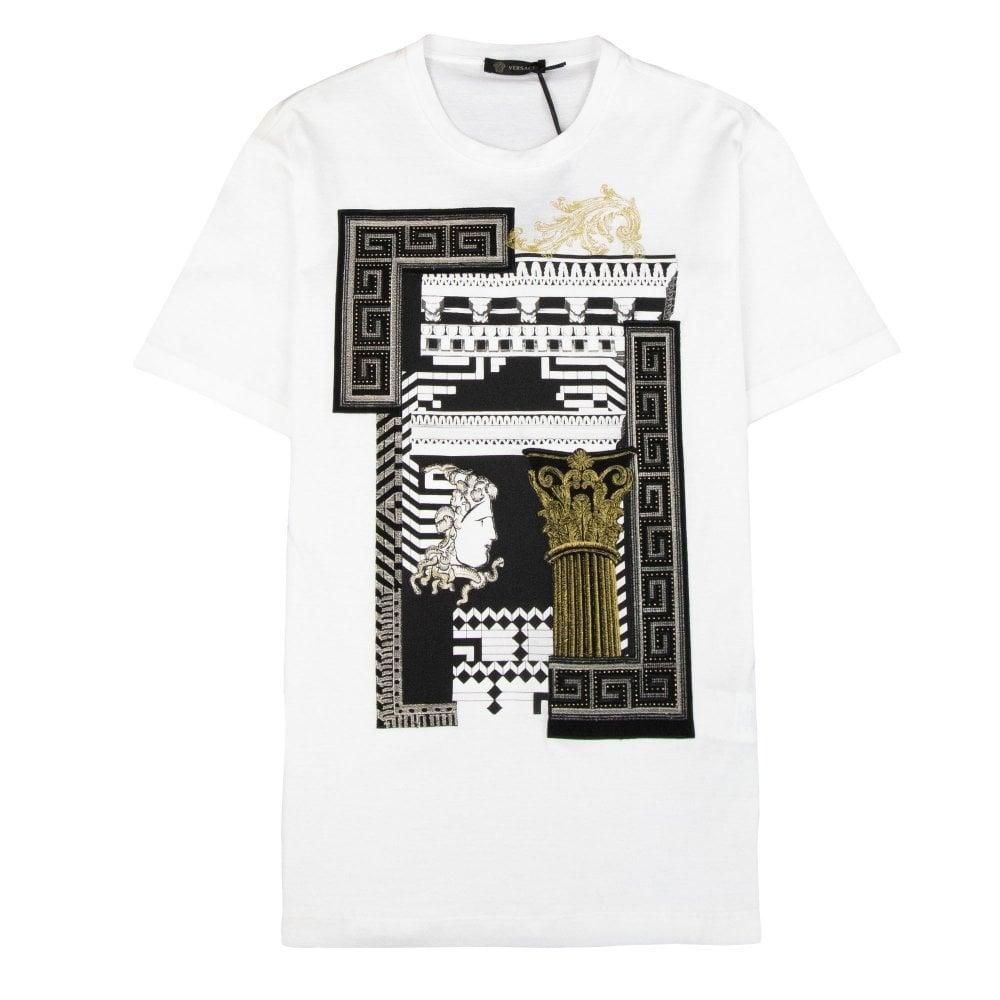 e1d83d88 Versace Medusa Column T-shirt White/Gold   ONU