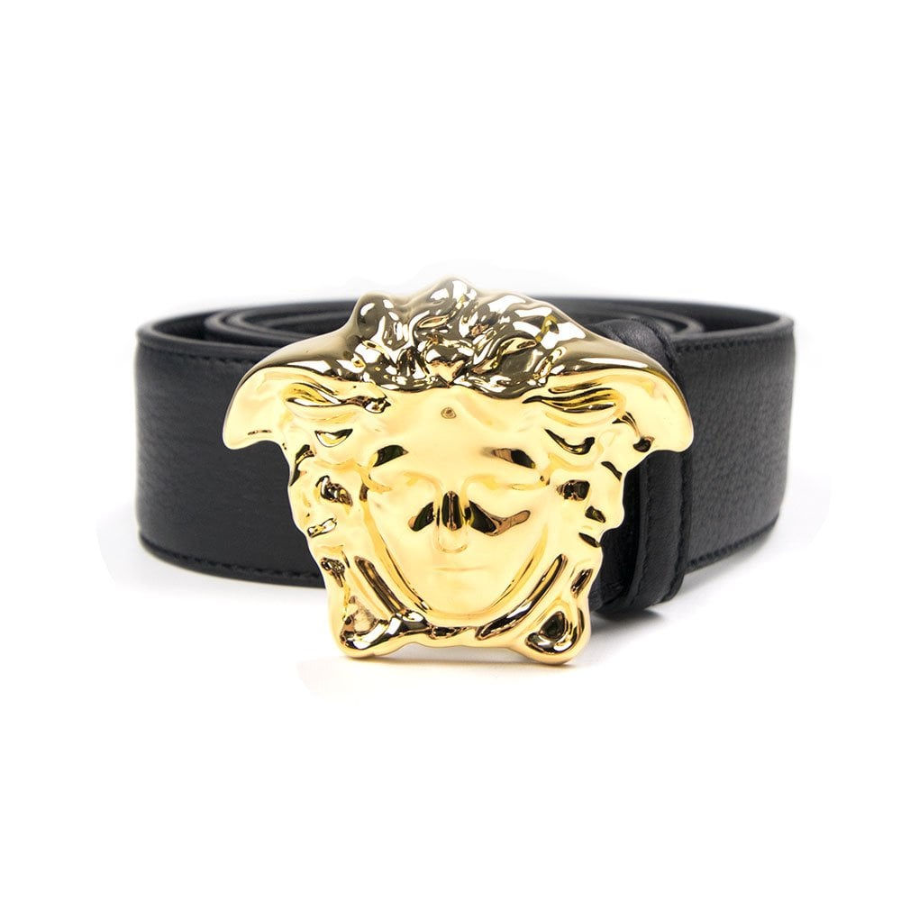 Versace Versace Medusa Head Belt Black Gold