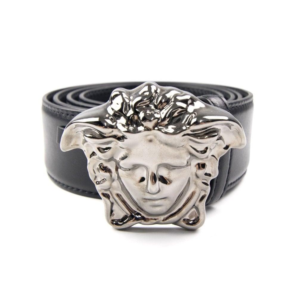 b675684c133 Versace Medusa Head Belt Silver