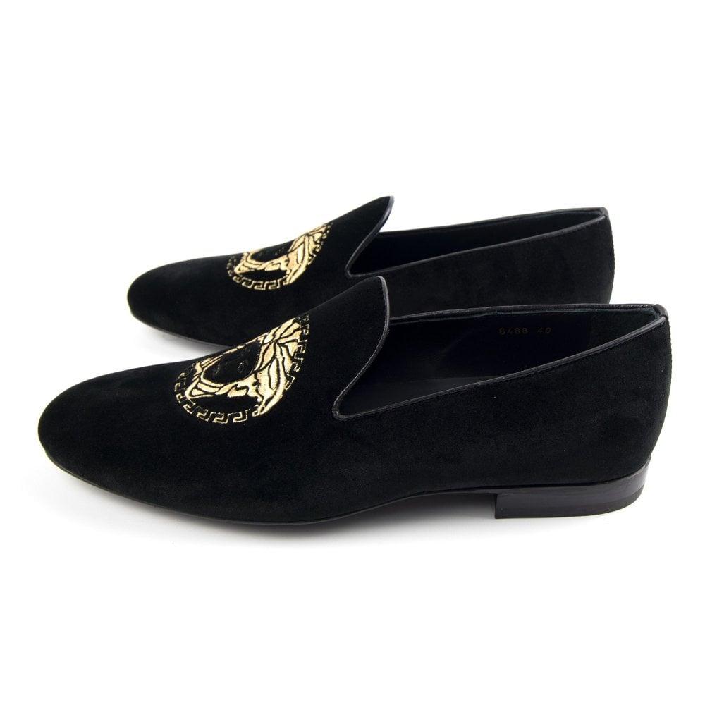 Versace Medusa Loafer Velour Black | ONU