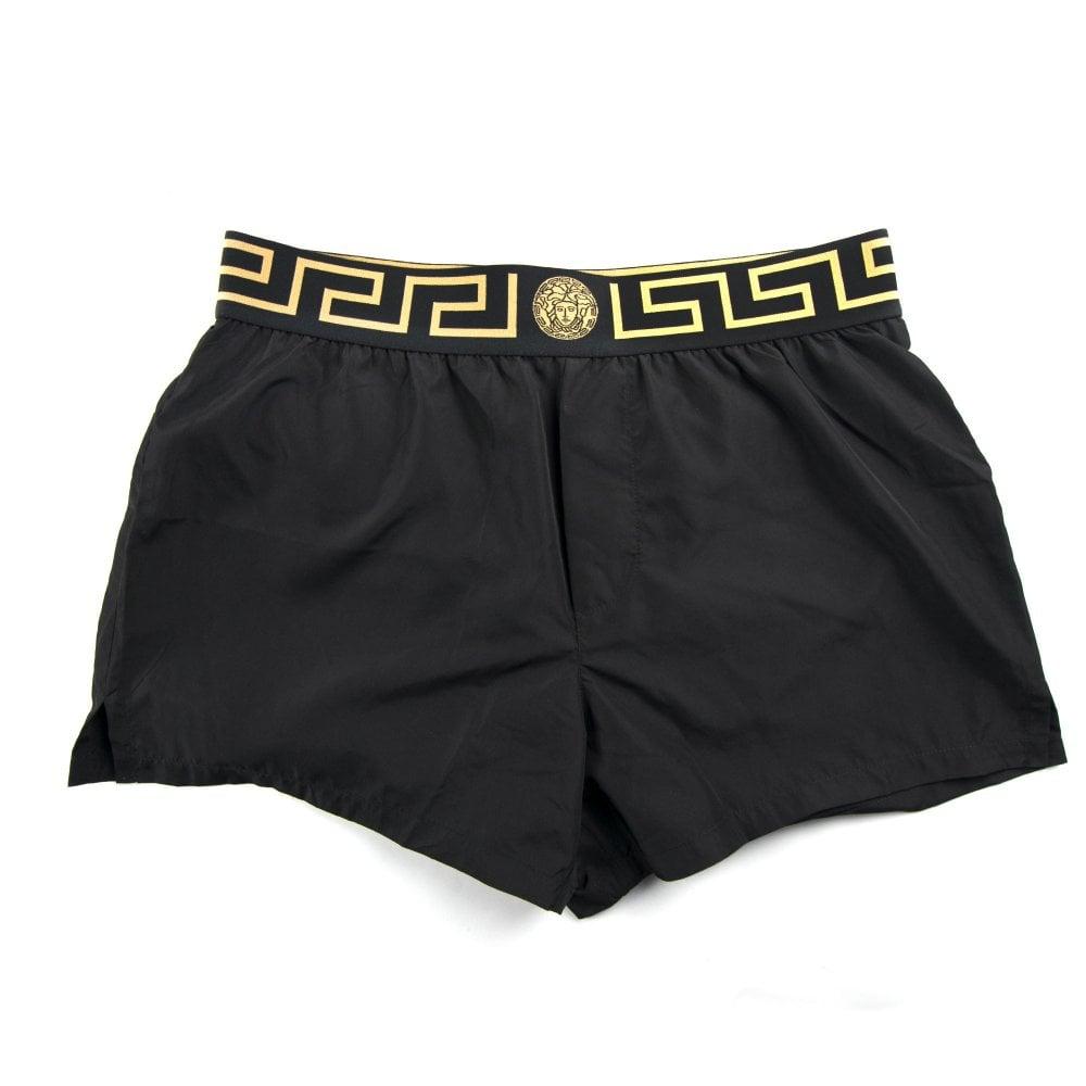41d3b3bd21 Versace Medusa Waistband Swim Shorts Black | ONU
