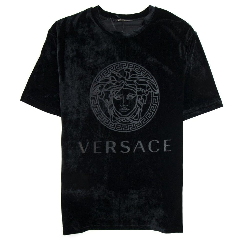 Velour Medusa T-Shirt Black