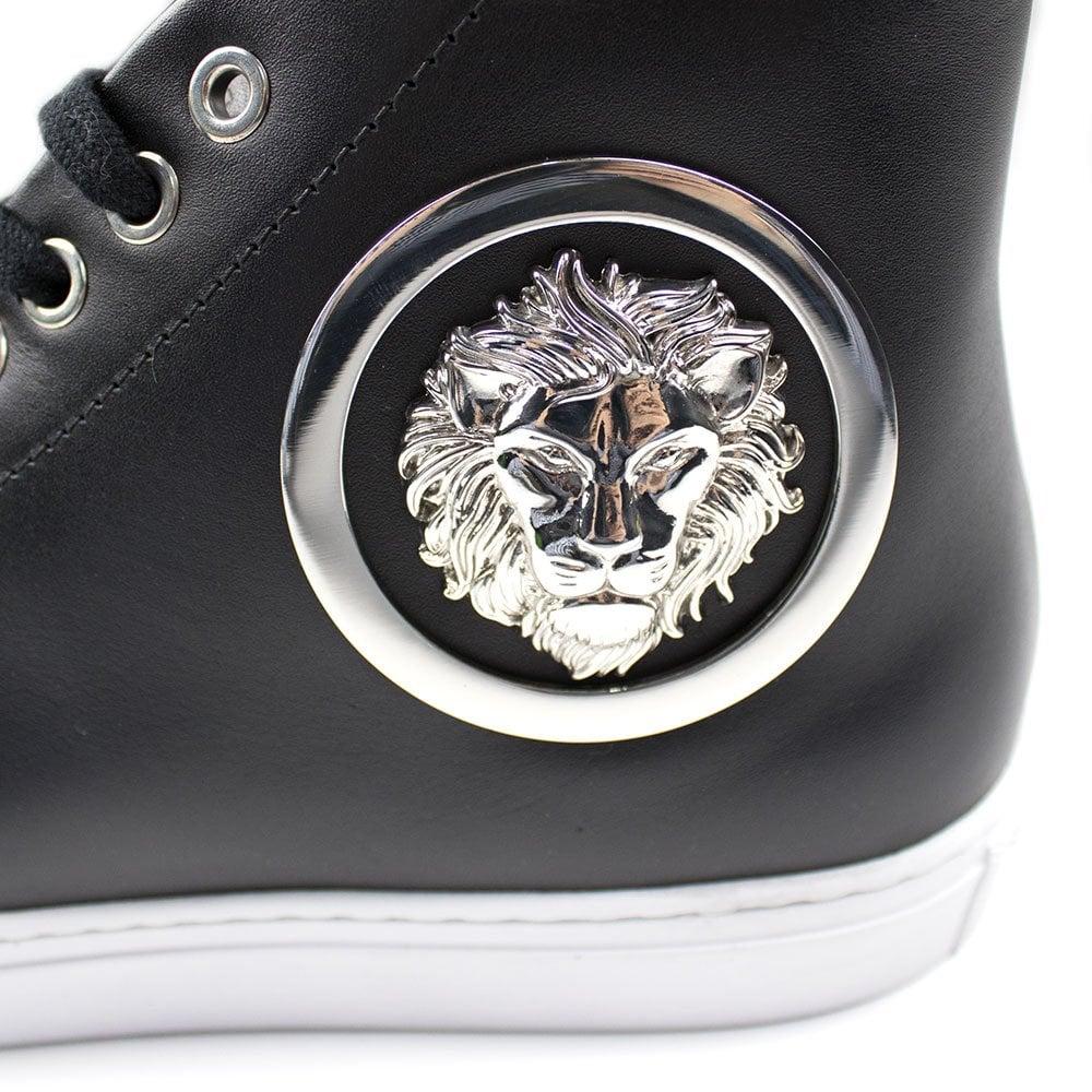 Versace Low Top Lion Sneaker Black | ONU